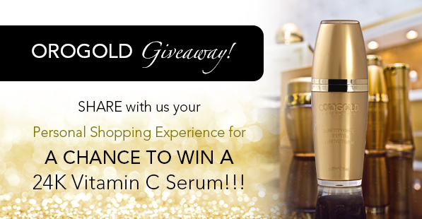 Share your OROGOLD Cosmetics Experience