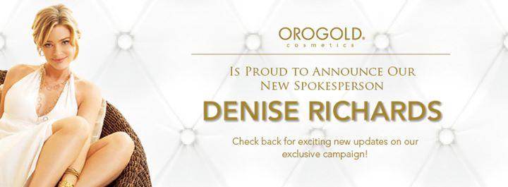 denise richards new oro gold spokesperson