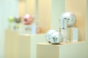 skin care displays at orogold including the 24k bio-brightening collection