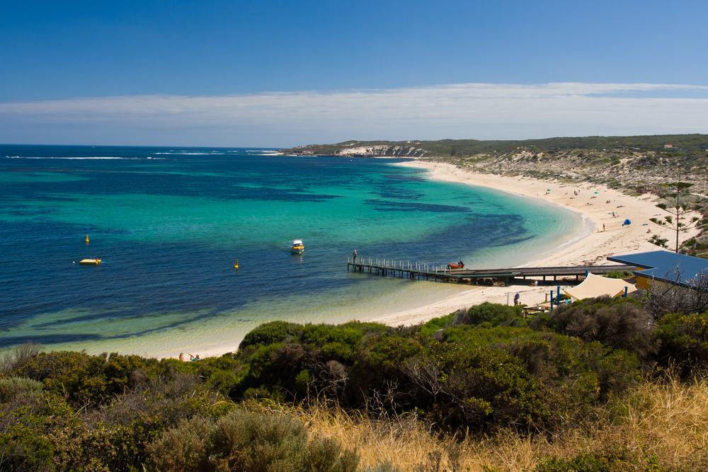 View of Margaret River Beach in Australia