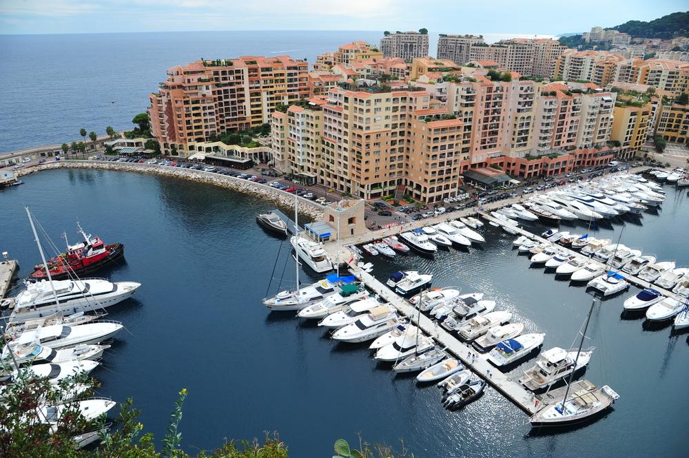 View of Monaco harbor