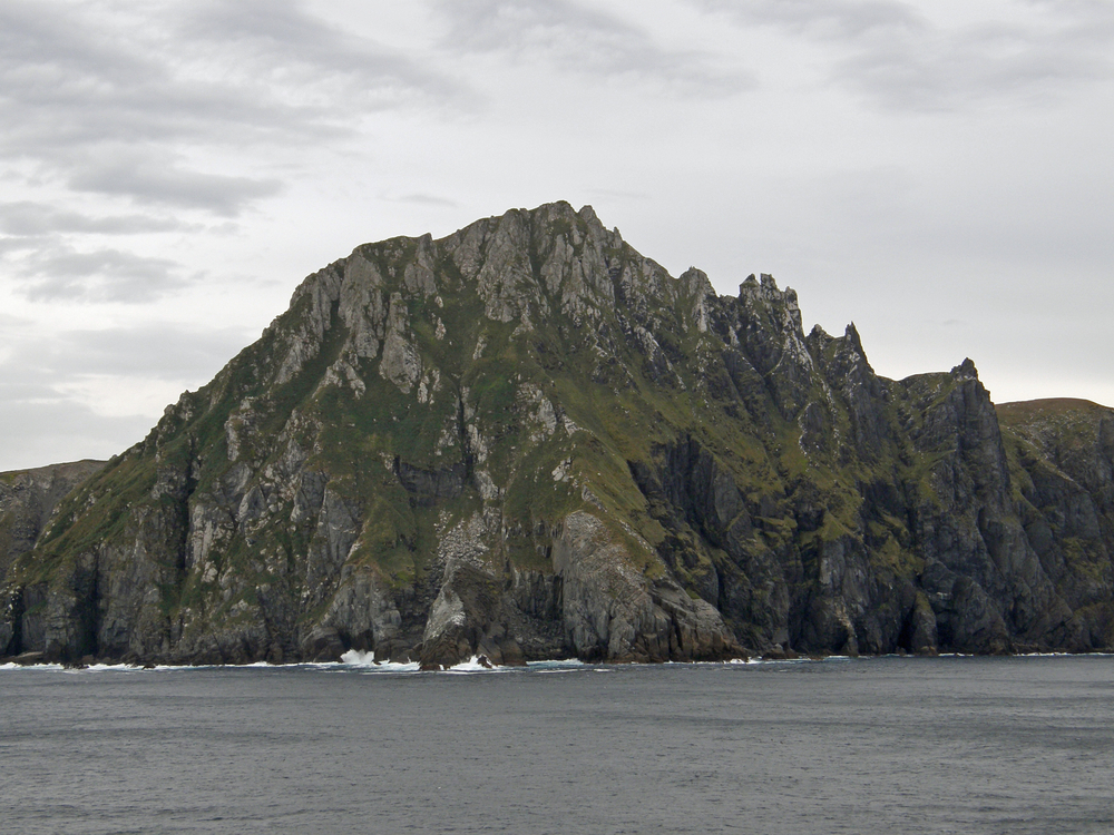 View from a boat of Cape Horn land