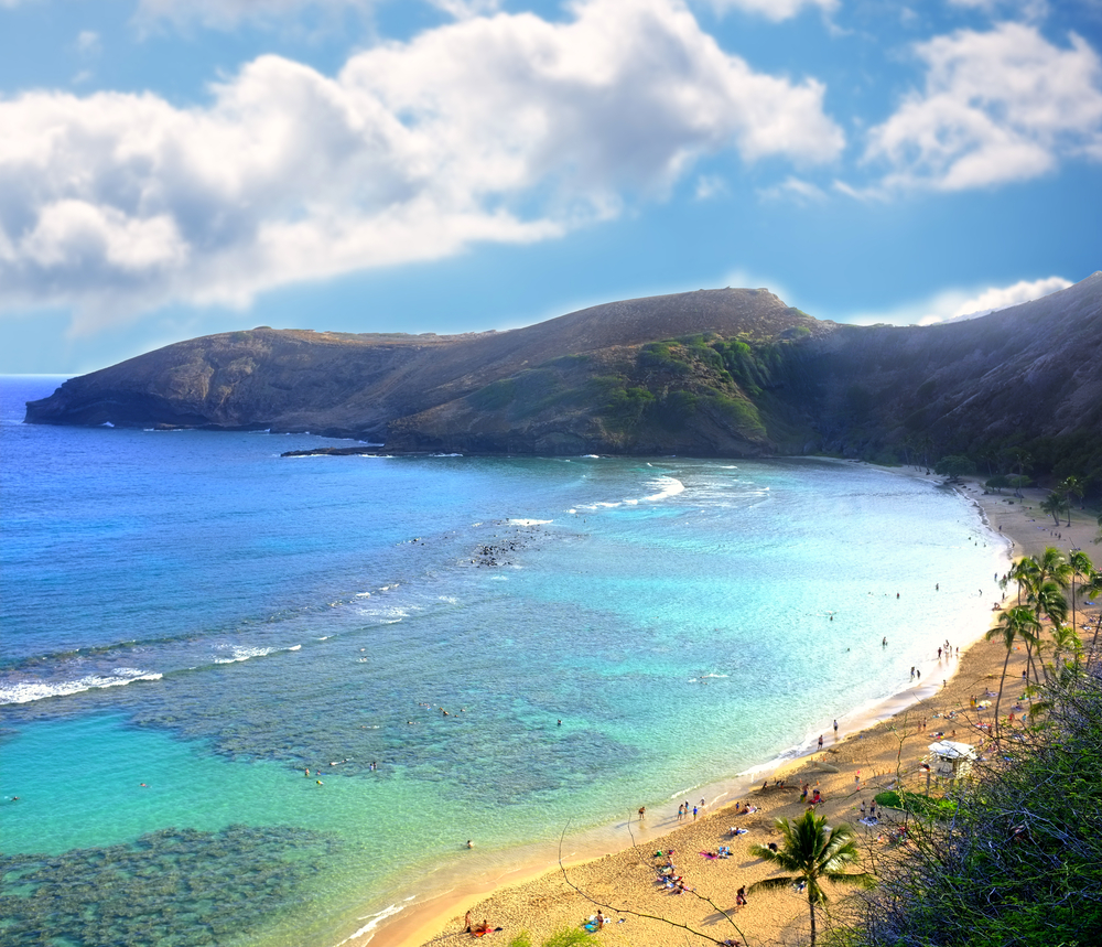 Beautiful bay for snorkeling and lounging in Hawaii