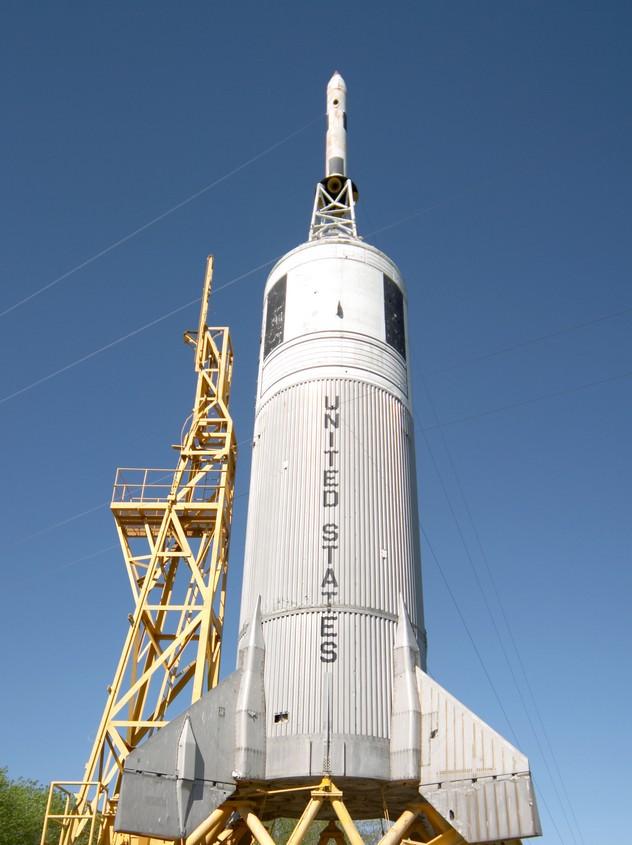 An Apollo rocket at the Houston Space Center