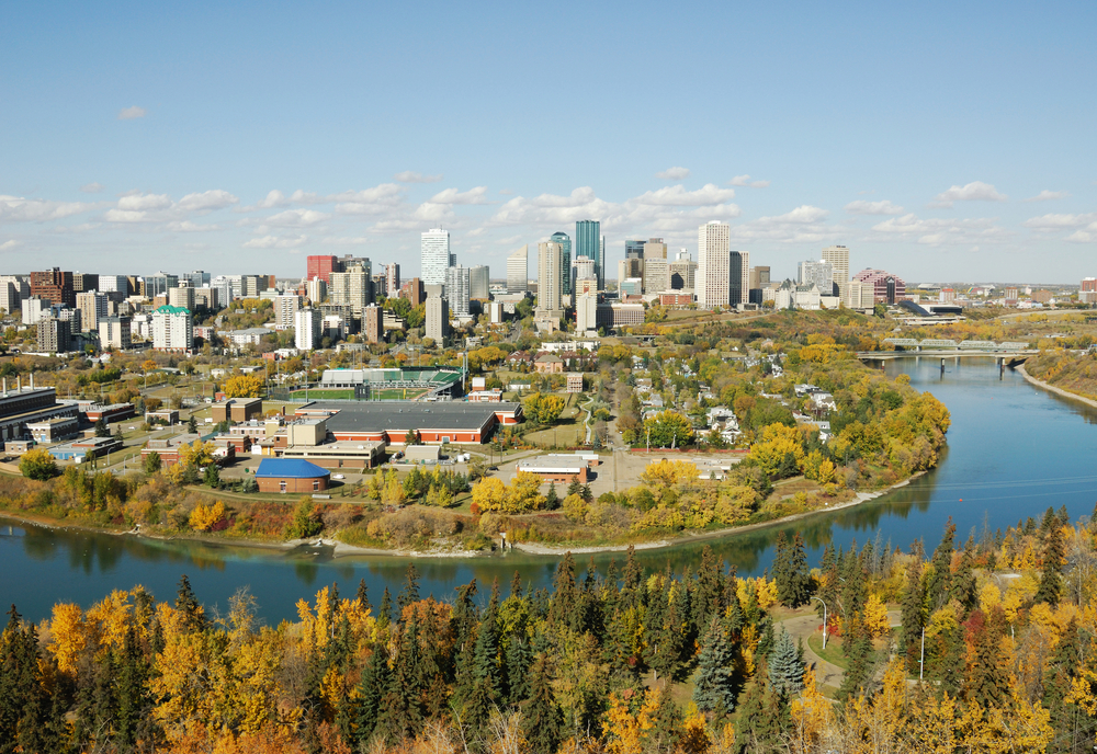 City view of Edmonton, Canada