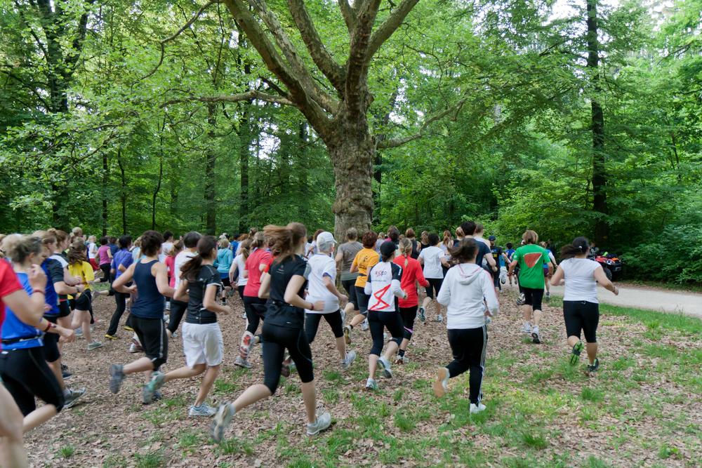 Academic relay race Sola run held in Zurich, Switzerland