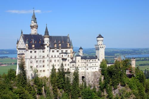 Neuchwanstein Castle in Bavaria, Germany