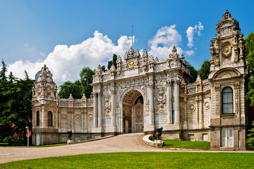 Dolmabahce Palace in Istanbul, Turkey.