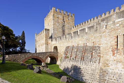 Castelo de São Jorge (St. George's Castle) in Lisbon, Portugal