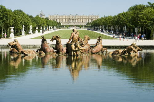 Royal Garden and Fountain inside Palace de Versailles, France