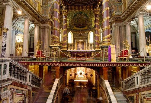 Basilica Santa Maria maggiore in Rome, Italy