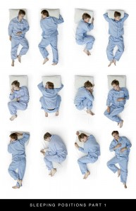 Different types of sleeping positions