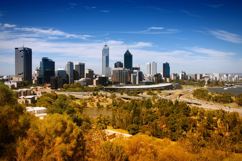 Cityscape of Perth, Australia