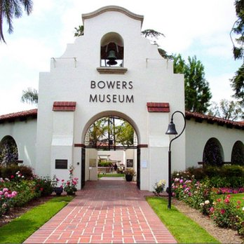 front entrance of Bowers Museum