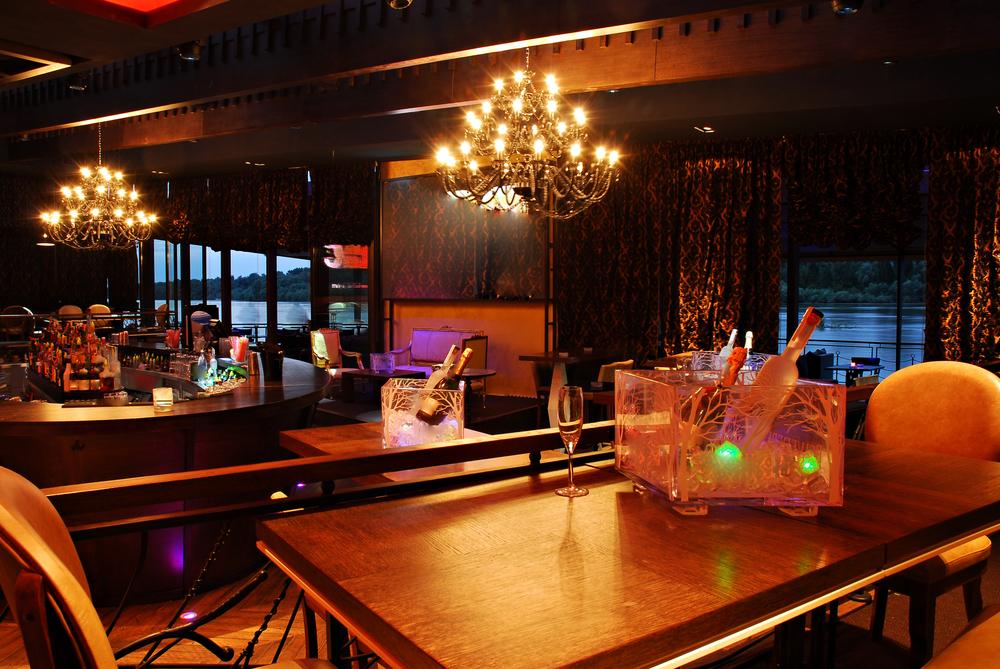 Interior of exclusive luxury club