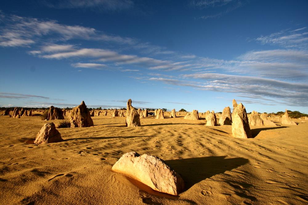 Rocky sand landscape in Perth, Australia
