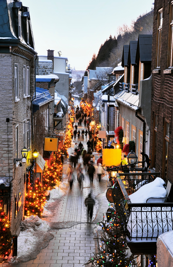 Shopping in the streets of Quebec City, Canada