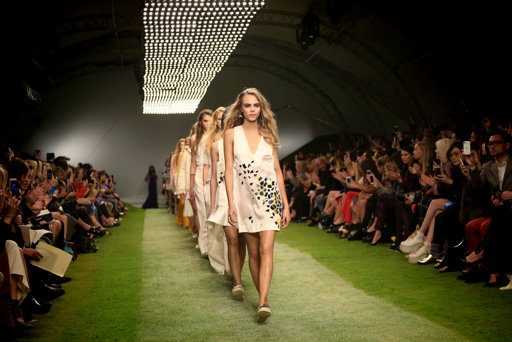 Green runway at London fashion week