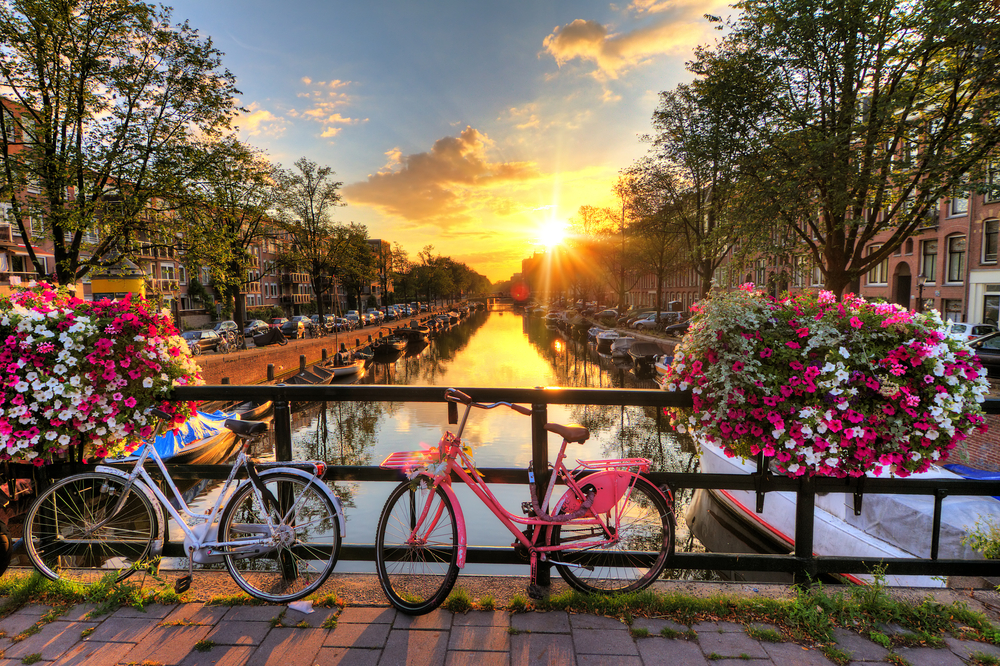 Sunsetting over Amsterdam