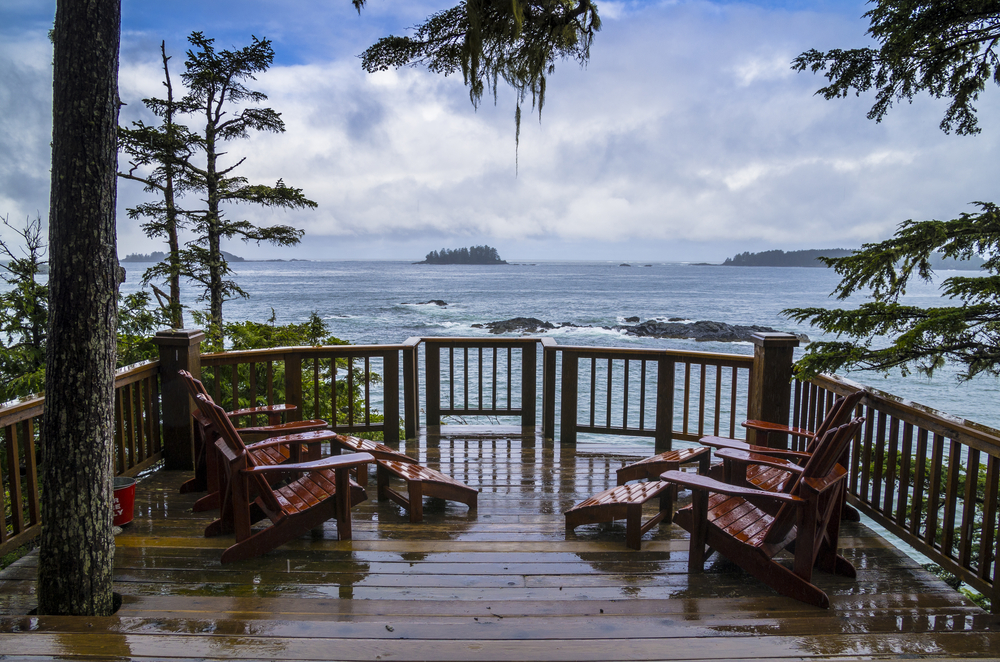 Pacific ocean view in Tofino, British Columbia.