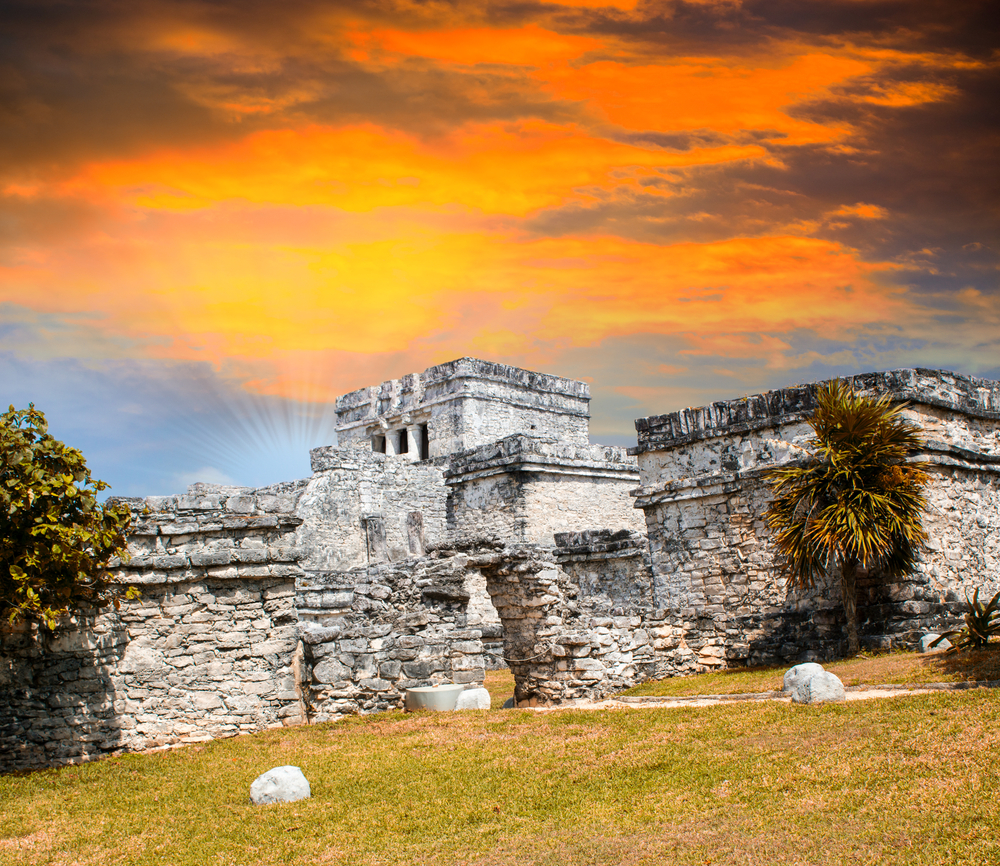 Ancient Mayan Ruins in Tulum.