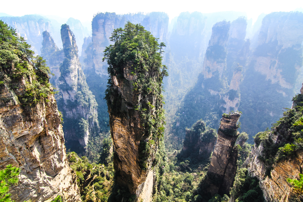 The Tianzi Mountains in China.