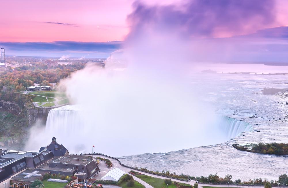 Niagara Falls in Canada.