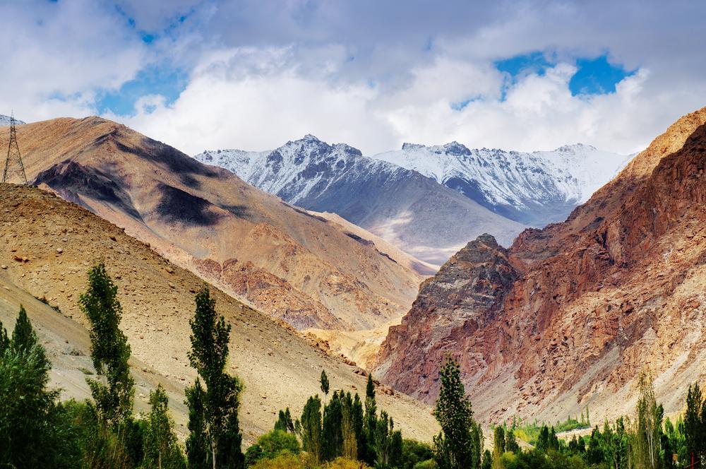 Fascinating landscapes in Ladakh, India.