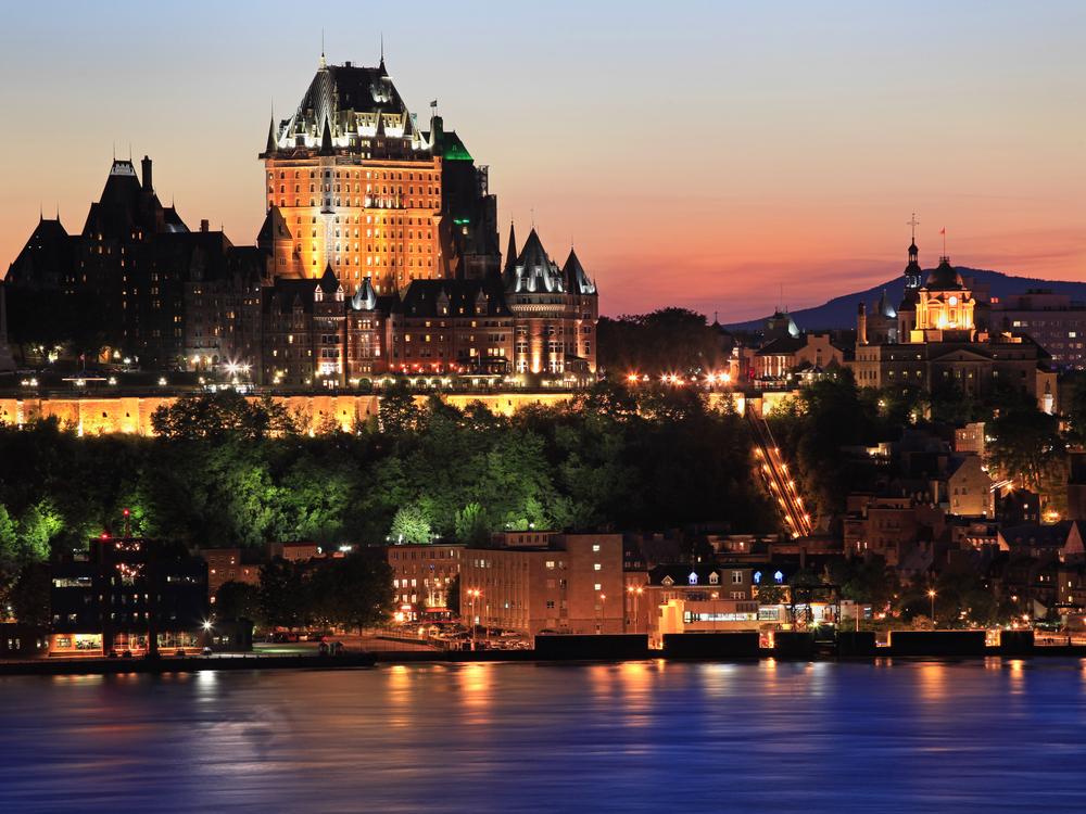 Quebec City during dusk.
