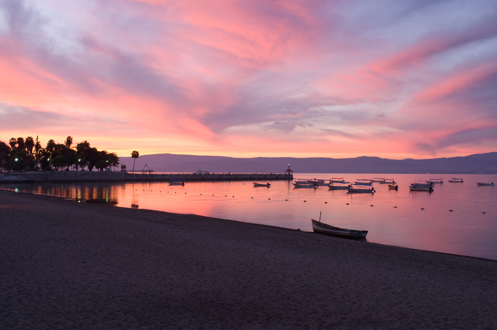Sunrise views of Lake Chapala in Jalisco, Mexico