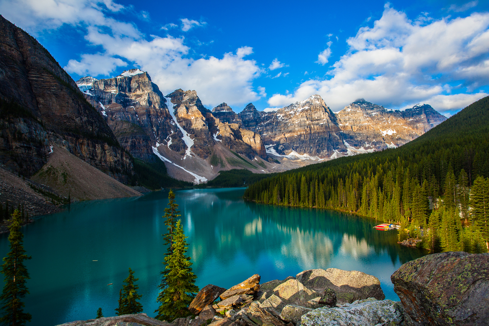 Moraine lake and the Valley of Ten Peaks, Banff National Park, Canada