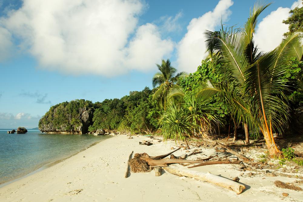 Sea beach in Papua New Guinea.