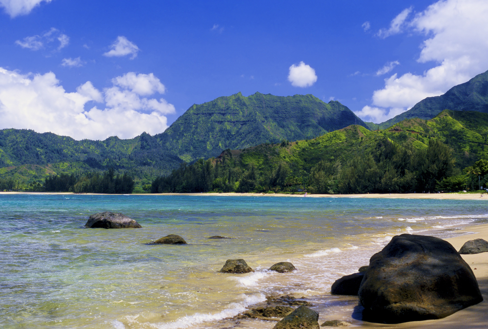 The Hanalei Bay Beach, Kauai, Hawaii