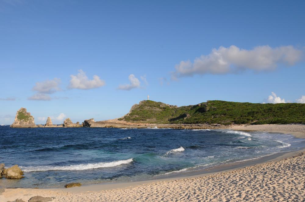 Beautiful beach in Guadeloupe