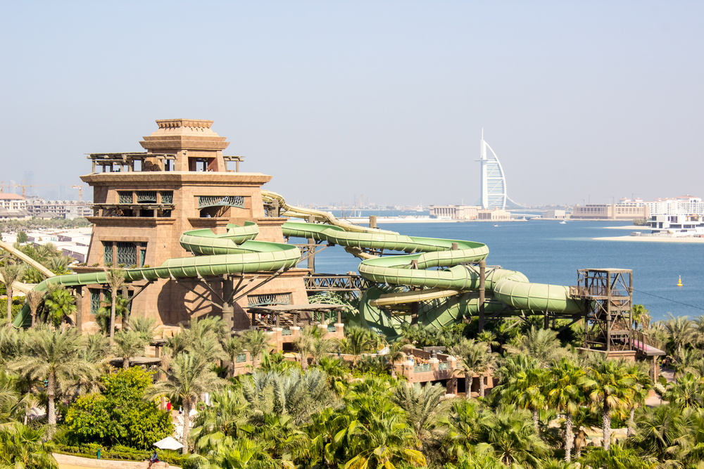Aquaventure Water Park in Dubai.