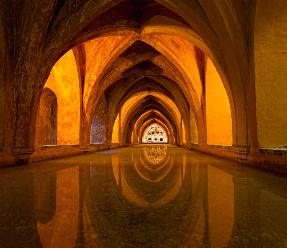The Bath in Royal Alcazar Castle, Spain