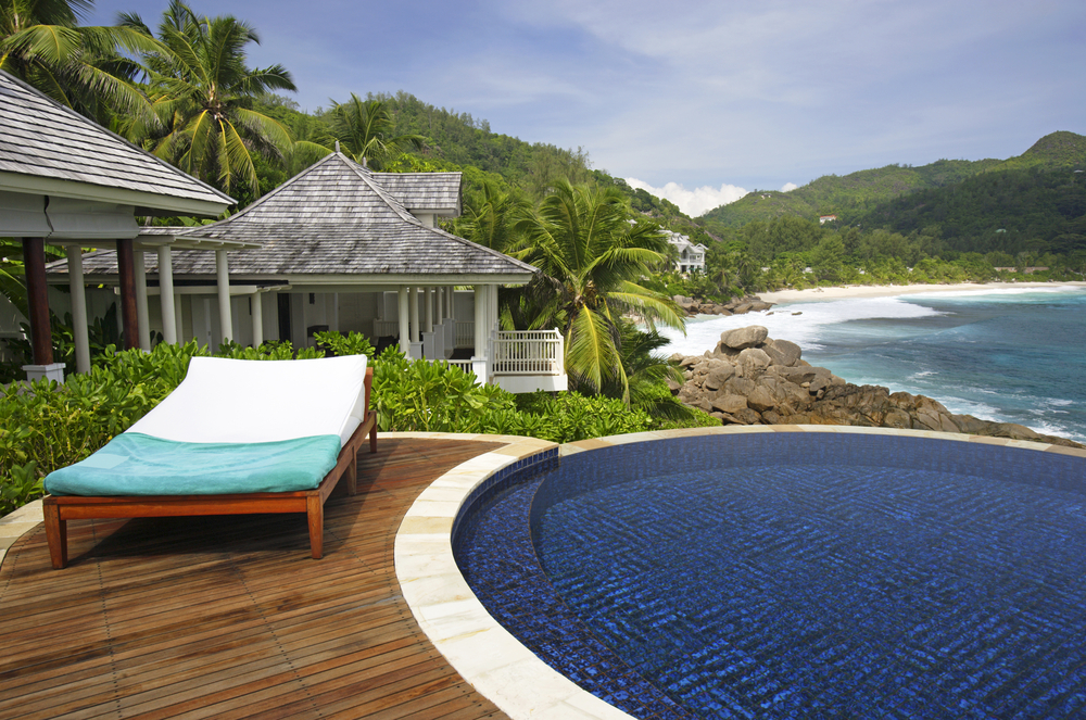 Beach resort in Mahe, Seychelles