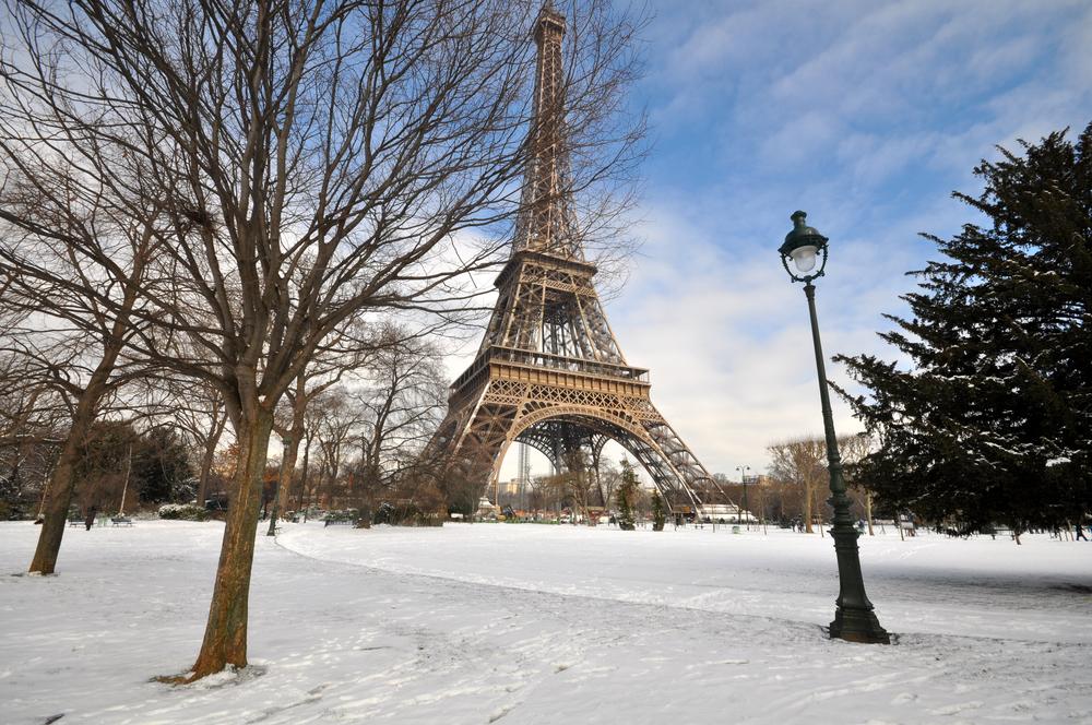 Eiffel Tower, Paris in winters.