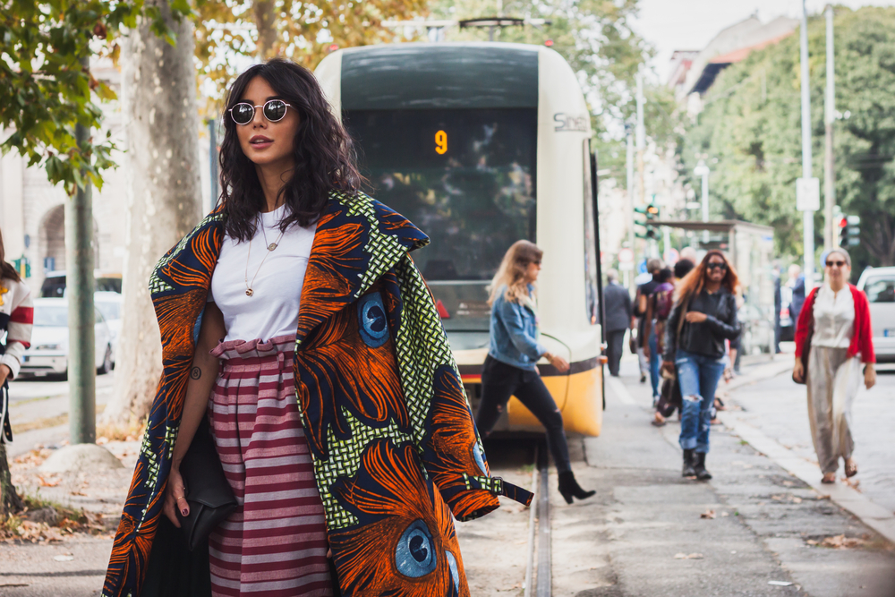 Street style during Milan Fashion Week.