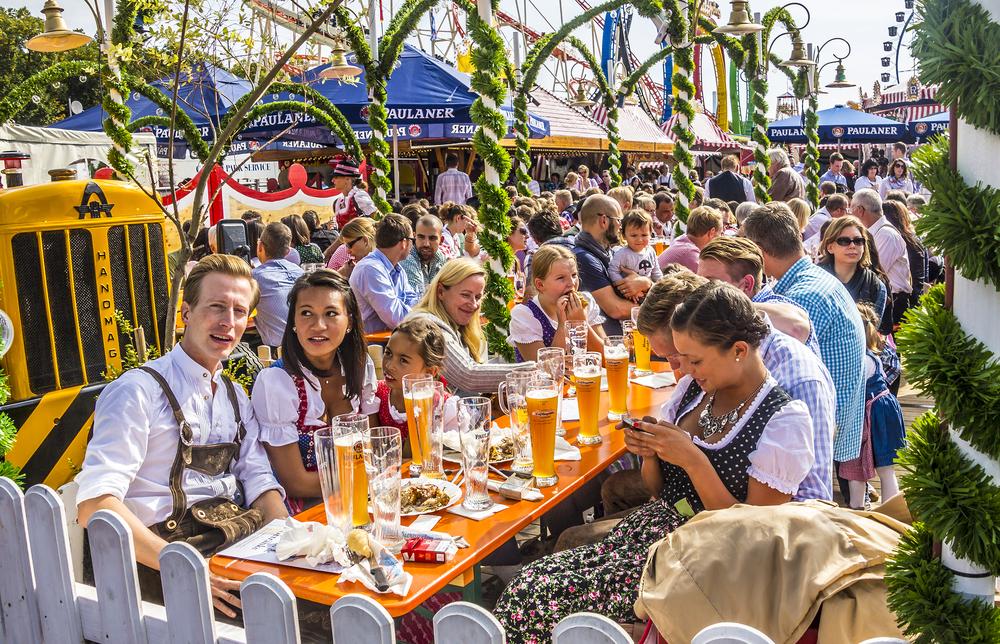 Beergarden in Oktoberfest, Munich