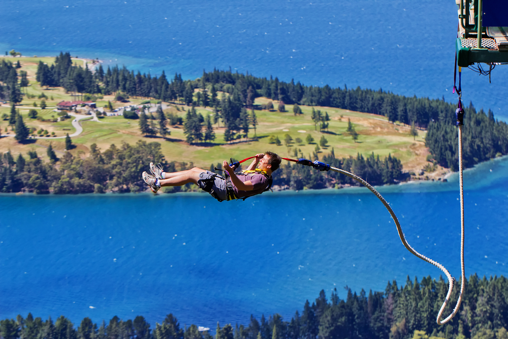 Bungee Jumping at The Ledge, Queenstown.
