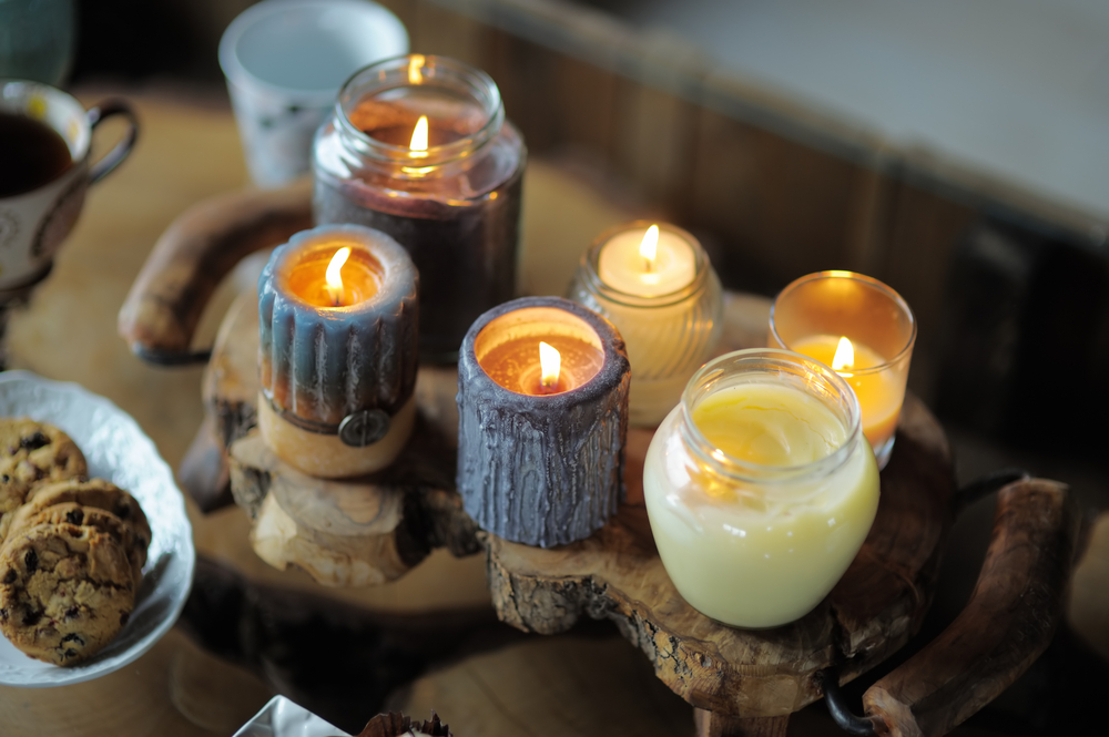 Beeswax candles.