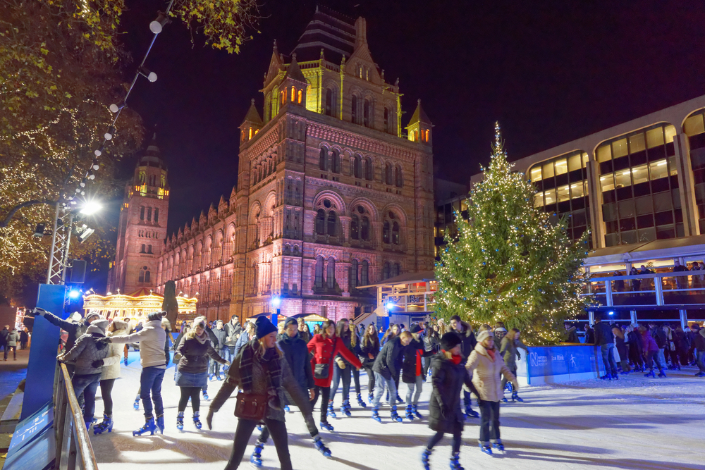 Ice skating in London