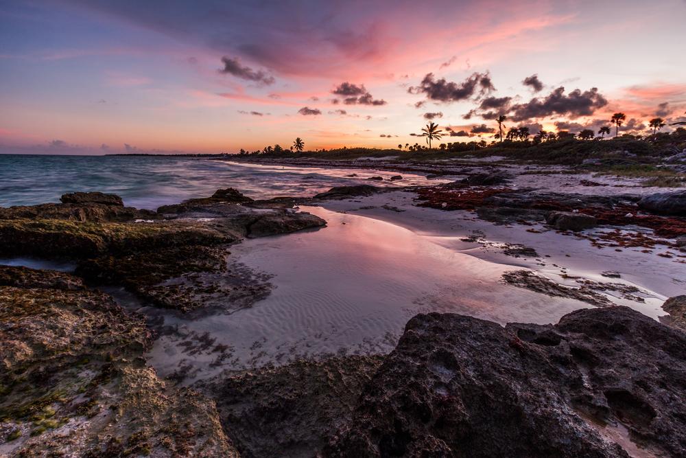 Riviera Maya sunset.