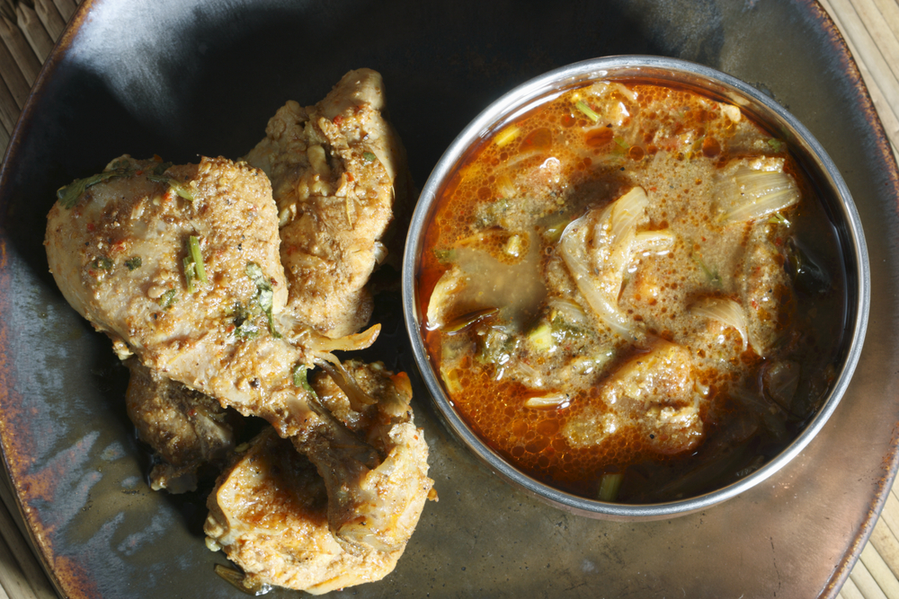 Chettinad chicken.