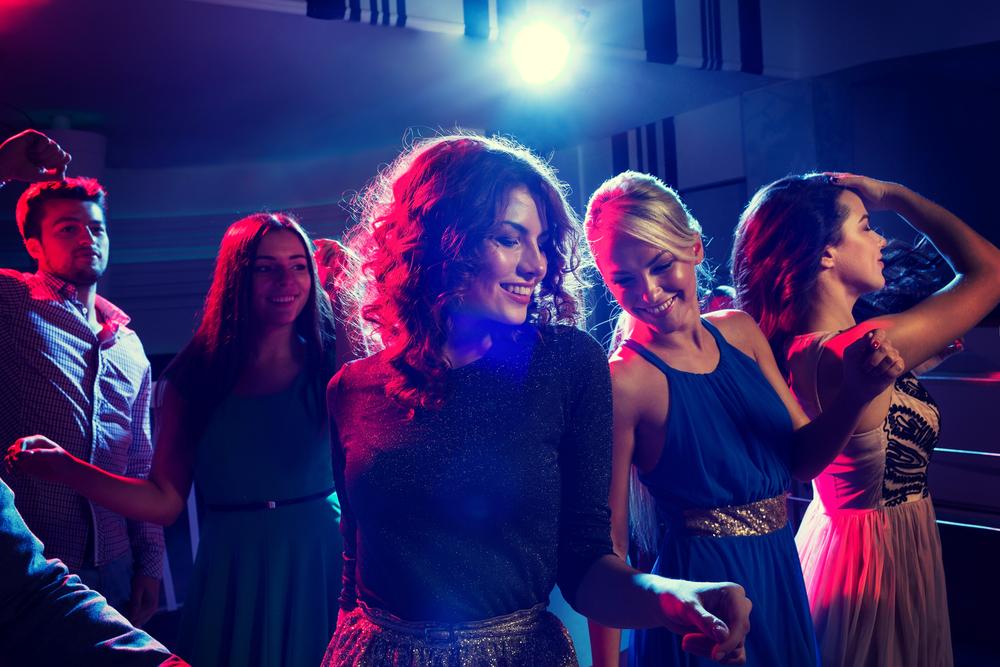 Women at a nightclub