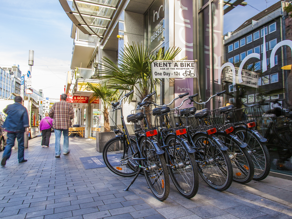Bike rental in Dusseldorf, Germany