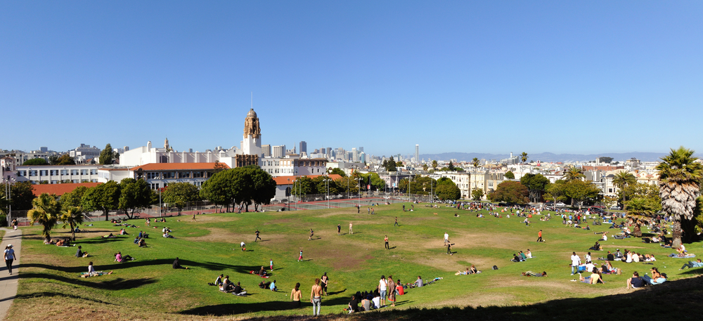 Dolores Park in Castro, San Francisco