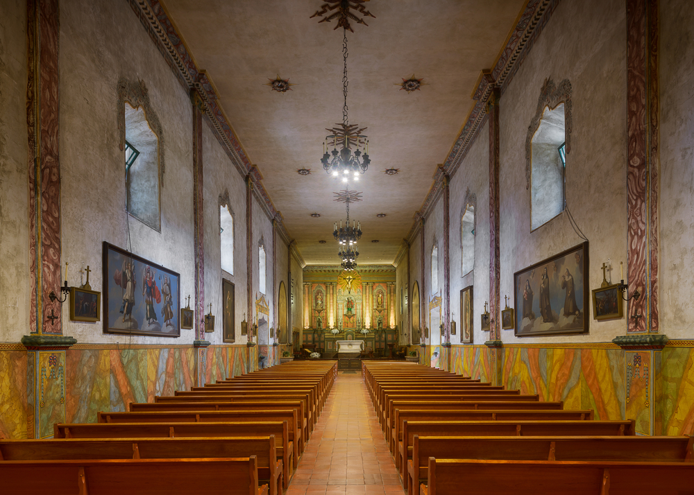 Inside Mission Santa Barbara