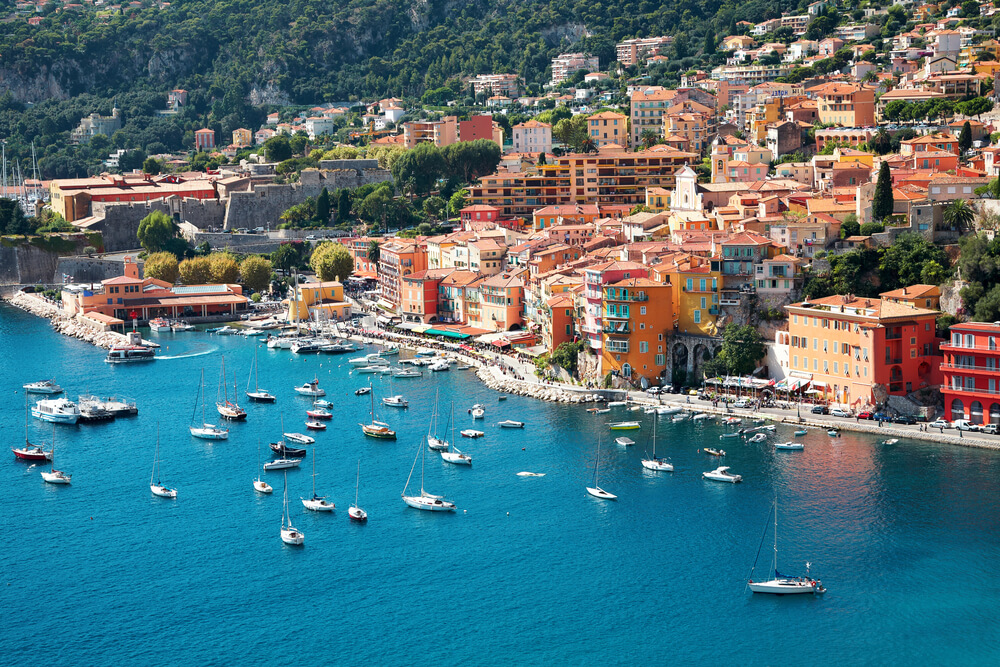 The Cote d'Azur in France